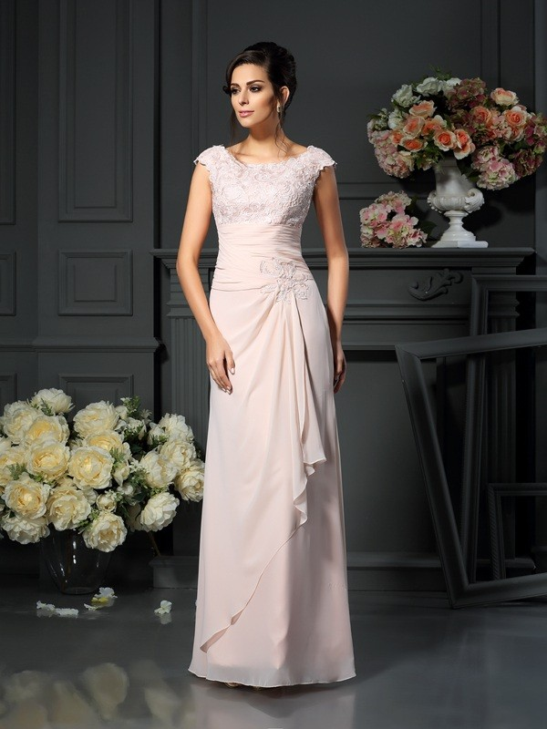 Amazing A-Line/Princess Scoop Lace Sleeveless Long Chiffon Mother of the Bride Dresses