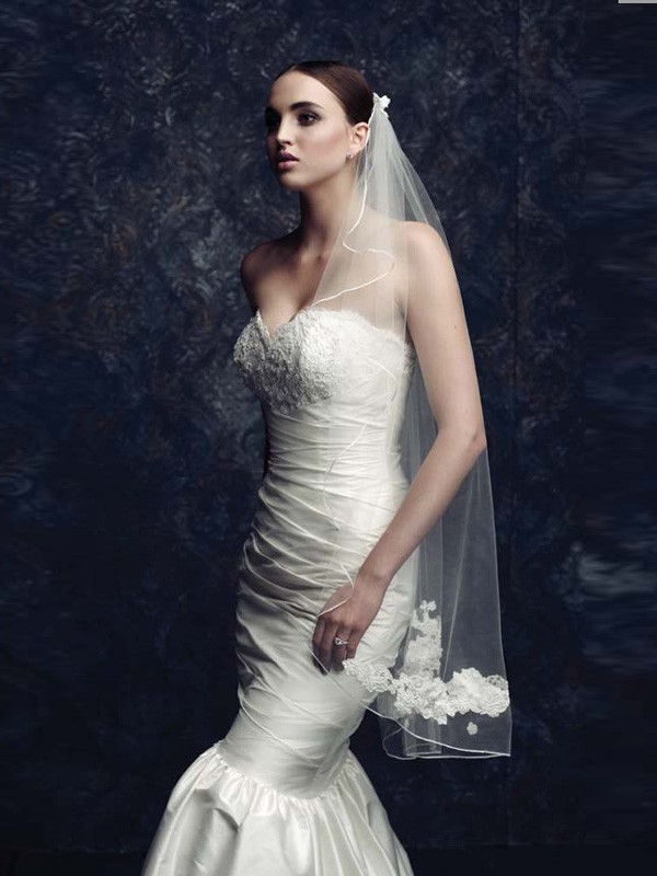 Gorgeous Tulle With Embroidery Wedding Veils