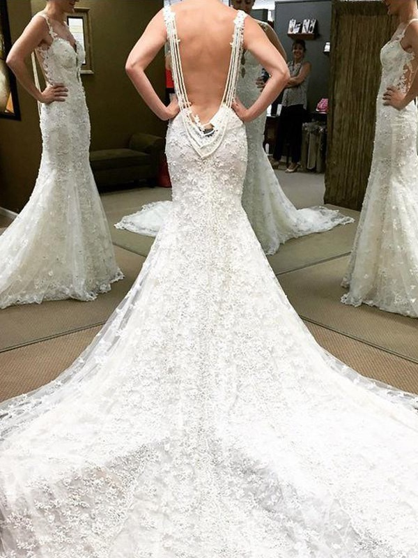 Ball Gown Short Sleeves Off-the-Shoulder Cathedral Train Lace Wedding Dresses