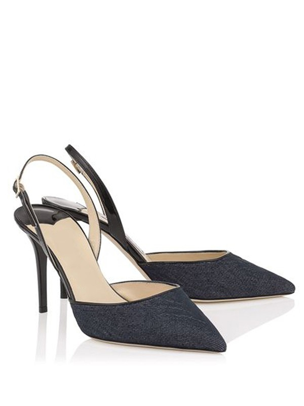 Women's Stiletto Heel Closed Toe With Buckle Sandals Shoes